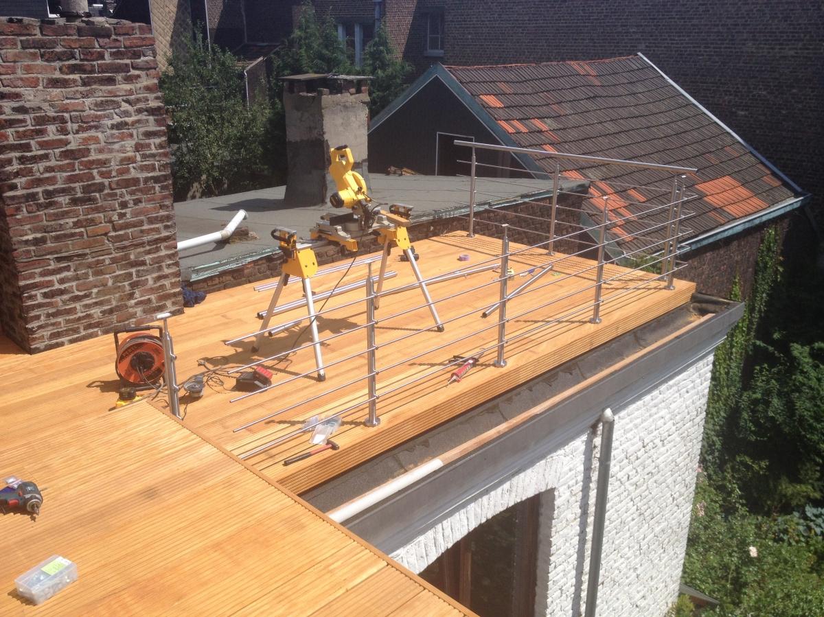 Terrasses ~ Construction D'une Terrasse En Bois