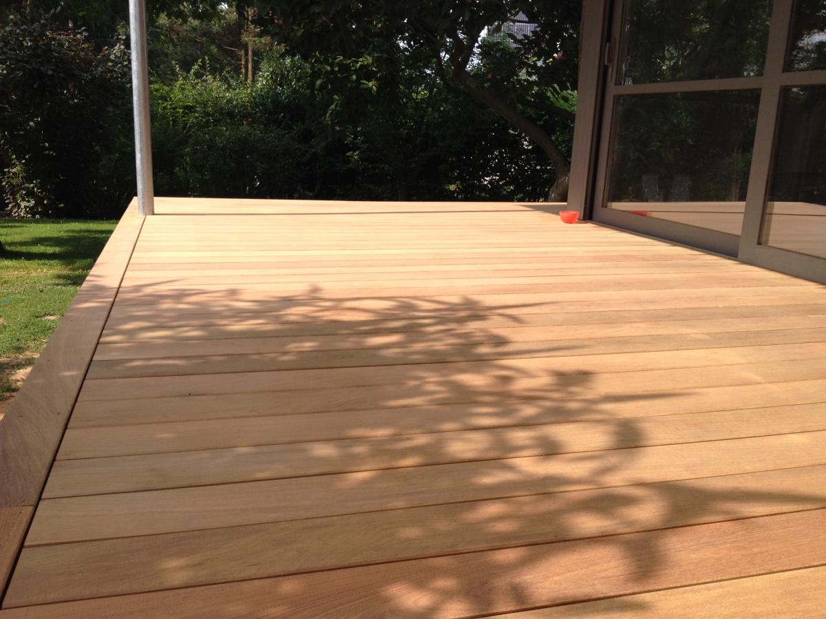 Terrasses for Decaper une terrasse en bois